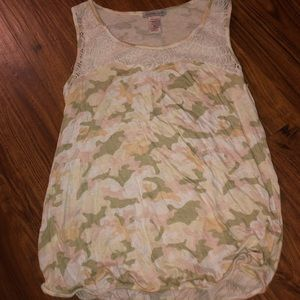 Charlotte Russe medium cano lace tank top